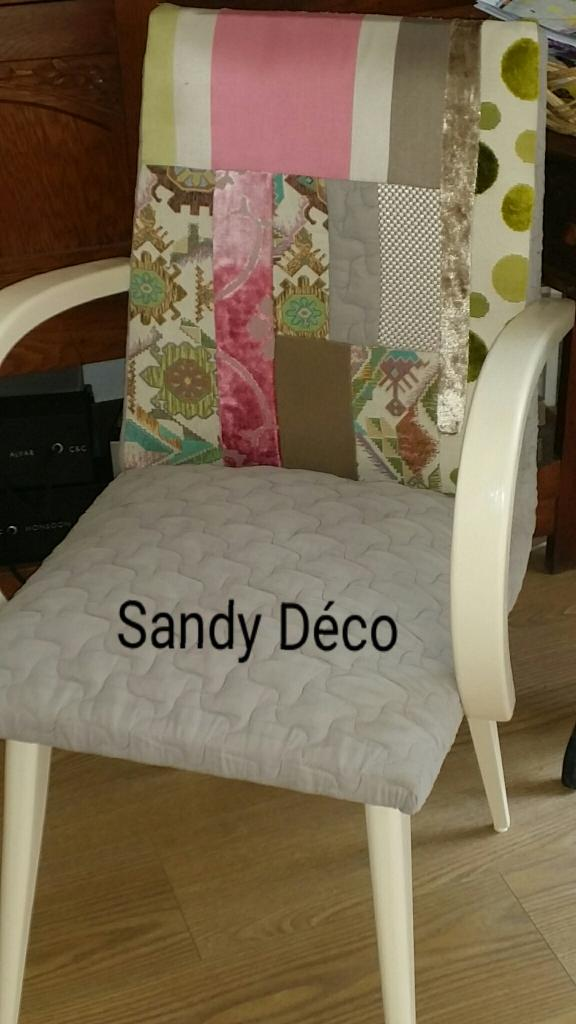 FAUTEUIL BRIDGE Creation Patchwork SANDY DECO