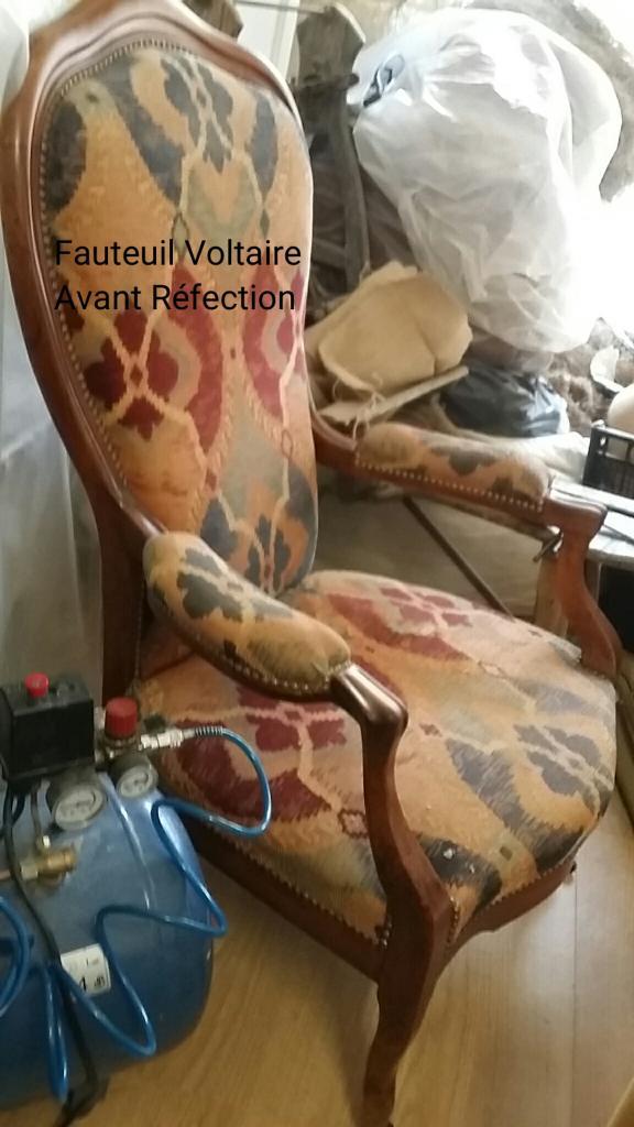 Fauteuil voltaire avant rénovation