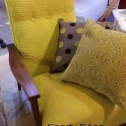 Housse coloris jaune et doré