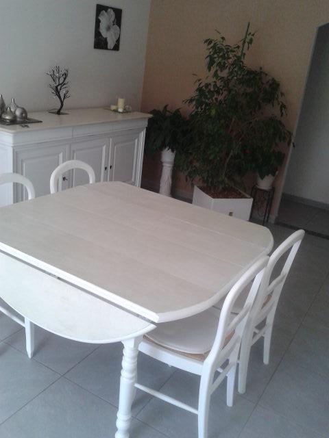 Table & chaises WHITE Béton Ciré Blanc
