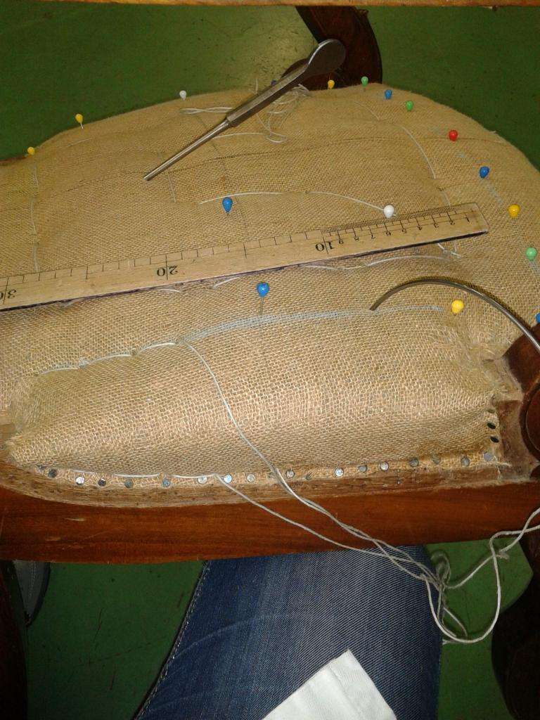 Confection d'un fauteuil de Style L. Philippe