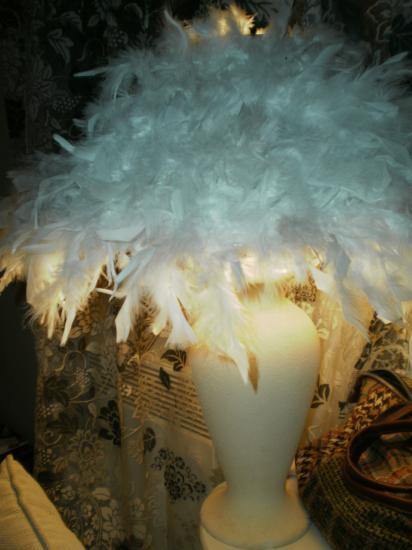 Lampe H.63 cm  restaurée et personnalisée.SANDY DECO