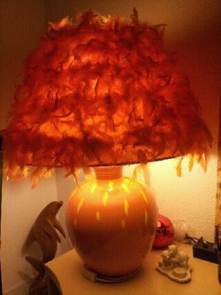 Lampe Relookée SANDY DECO