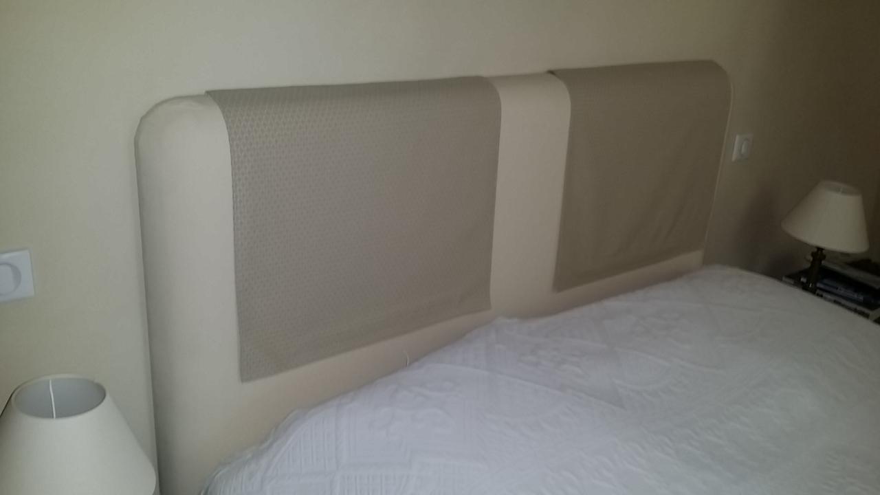 Tête de lit créée entièrement par Sandy Déco