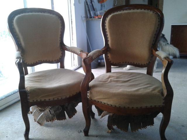fauteuils style louis philippe avant. Black Bedroom Furniture Sets. Home Design Ideas
