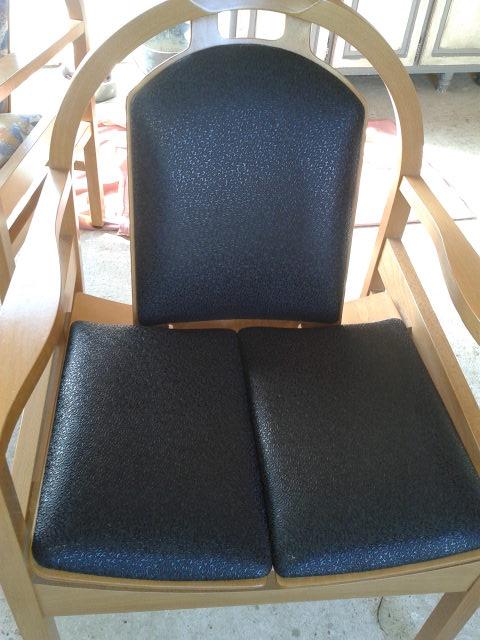 Fauteuil Salle d'Attente, recouvert simili cuir Marron; sandy deco