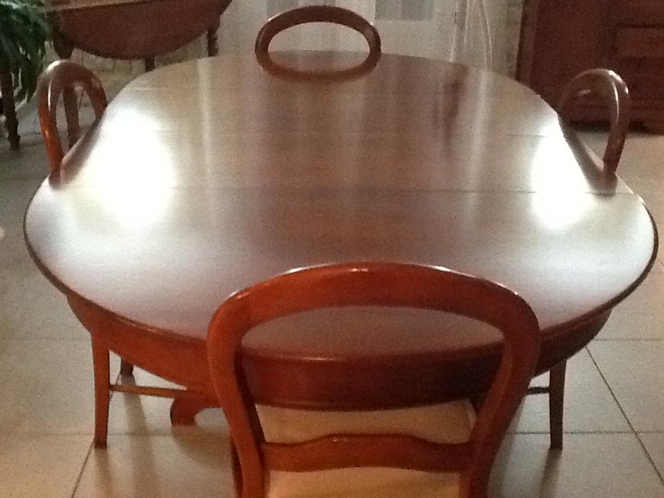 Table de Salon & ses quatres chaises Avant Relooking!