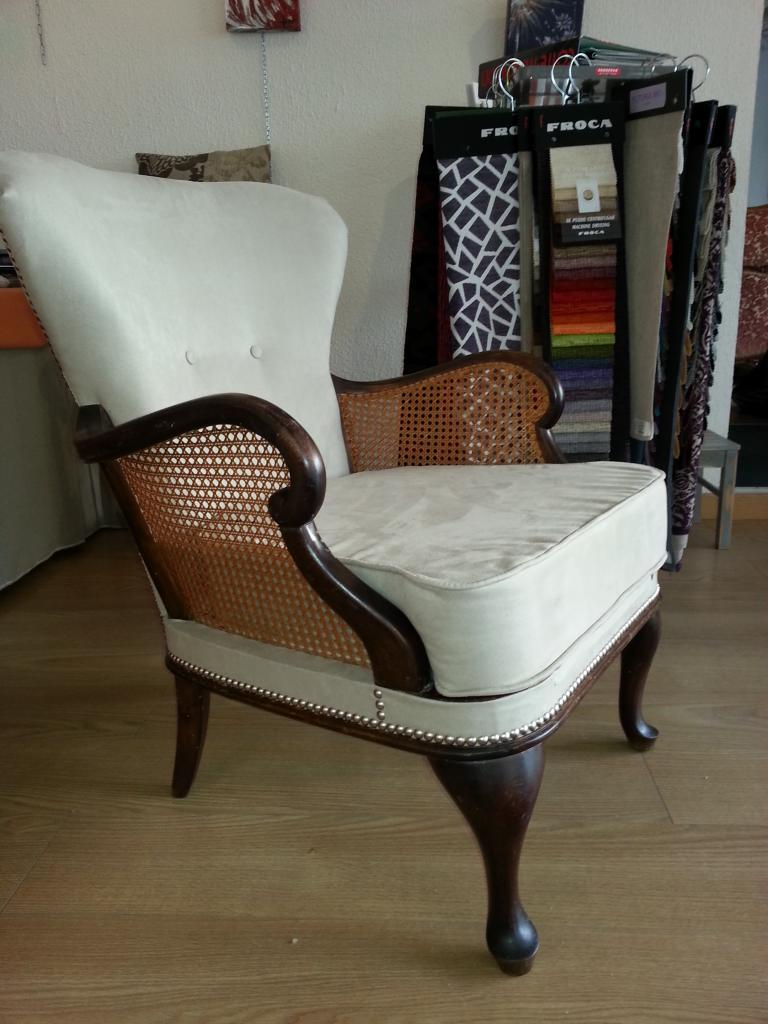 Fauteuil Style Chippendale Tissus Microfibre