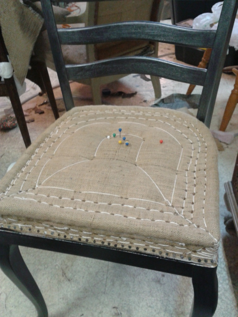 Tapisserie Chaise Style Anglais (en cours)